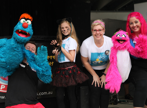 Larrikin Puppets with performers Teagan Norman and MC Natalie Mead D4D 2017